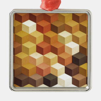 Honey Silver-Colored Square Decoration