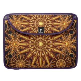 Honey Star Mandala MacBook Pro Sleeves
