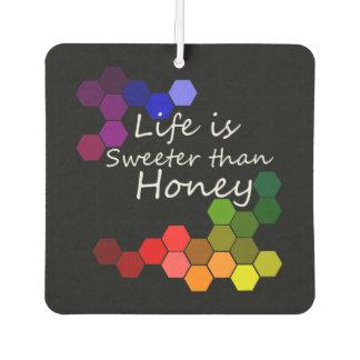 Honey Theme With Positive Words Car Air Freshener