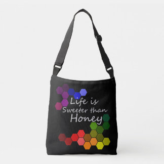 Honey Theme With Positive Words Crossbody Bag