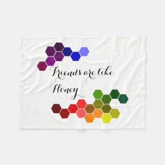 Honey Theme With Positive Words Fleece Blanket