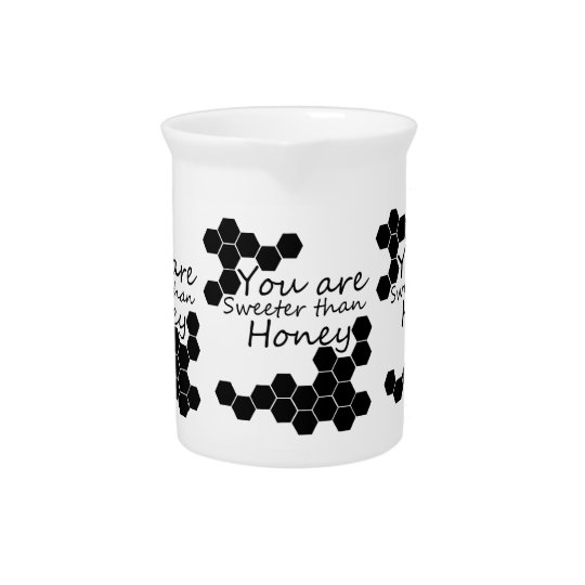 Honey Theme With Positive Words Pitcher