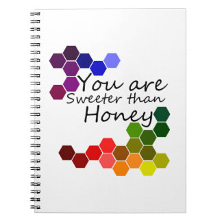 Honey Theme With Positive Words Spiral Notebook