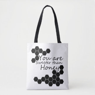 Honey Theme With Positive Words Tote Bag