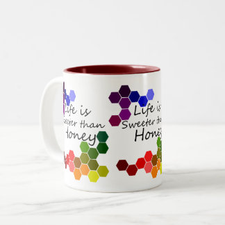 Honey Theme With Positive Words Two-Tone Coffee Mug
