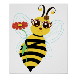 Honey Toon Bee Print