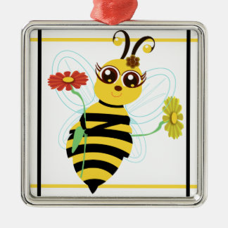 Honey Toon Bee Sqrs Ornament