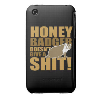 Honeybadger don t care Case-Mate iPhone 3 cases