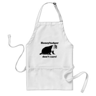 Honeybadger don't care adult apron