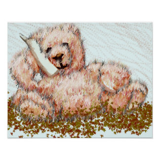 Honeybear Cute Teddy Bear Poster Kid's Room