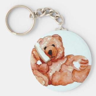 """Honeybear on the Phone, """"Bears Bears Bears"""" Keychain"""