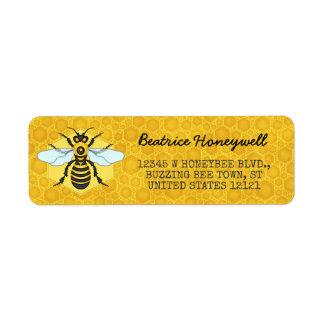 Honeybee and Honeycomb Bumblebee Honey Pretty Return Address Label