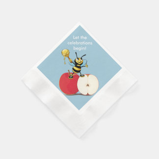 Honeybee Apple Rosh HaShana Disposable Serviettes
