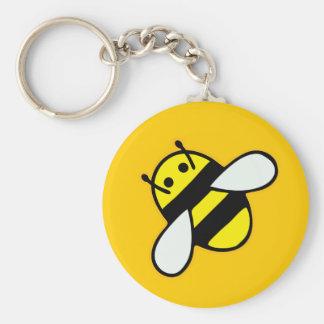 Honeybee Basic Round Button Key Ring
