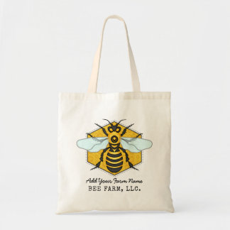 Honeybee Honeycomb Bee Farm Apiary Personalized Tote Bag