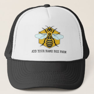 Honeybee Honeycomb Bee Farm Apiary Personalized Trucker Hat
