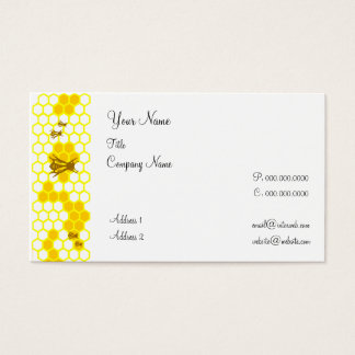 Honeybee Honeycomb Custom Business Cards