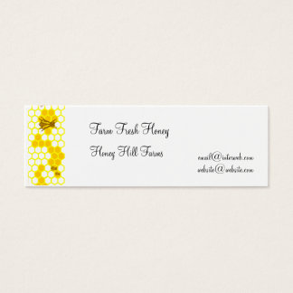 Honeybee Honeycomb Custom Business Tags