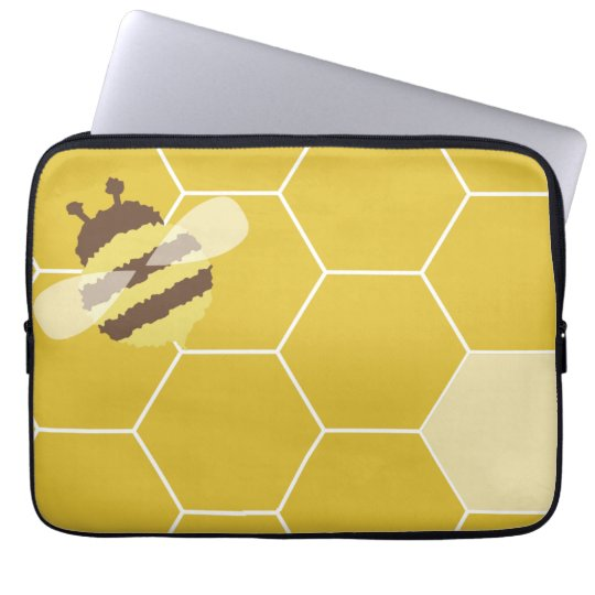 Honeybee Honeycomb Pattern Laptop Computer Sleeve