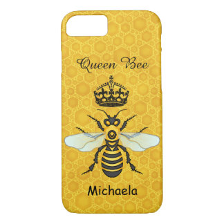 Honeybee Honeycomb Queen Bee Crown Custom Name iPhone 8/7 Case