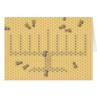 Honeybee menorah card