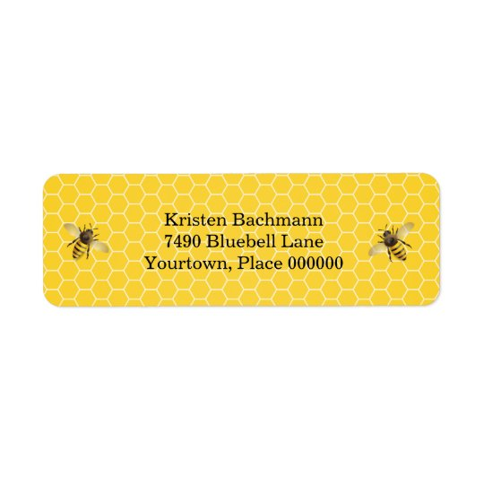 Honeybee Mother to Bee Baby Shower Return Address Label