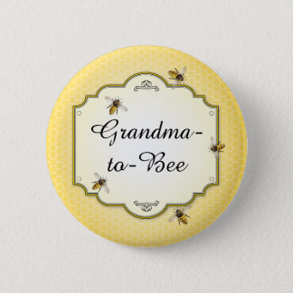 Honeybee Mother to Bee Baby Shower Role 6 Cm Round Badge