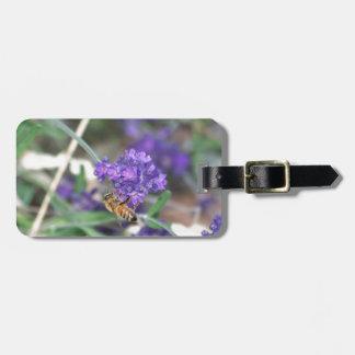 Honeybee on Lavender Luggage Tag