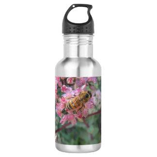Honeybee on Pink Sedum 532 Ml Water Bottle