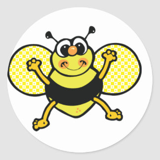 Honeybee round sticker