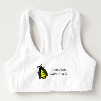 Honeybee Workin' Out Cute Add Your Name Sports Bra
