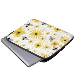 Honeybees Flowers & Polka Dots Electronics Bag