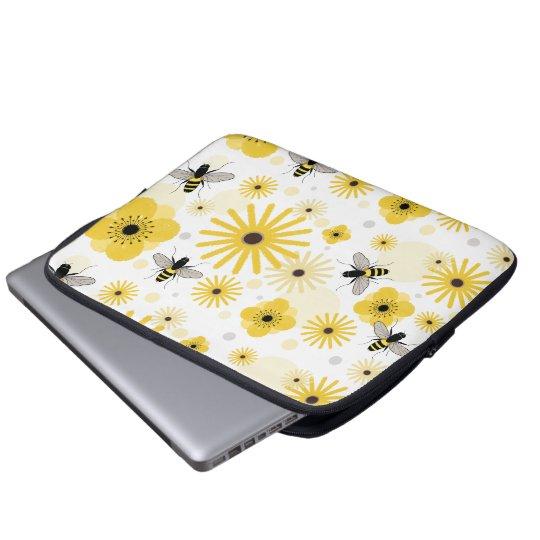Honeybees Flowers & Polka Dots Electronics Bag