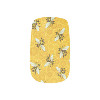 Honeybees Honeycomb Bumble Bee Hive Pattern Minx Nail Art