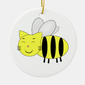 Honeycat Ceramic Ornament