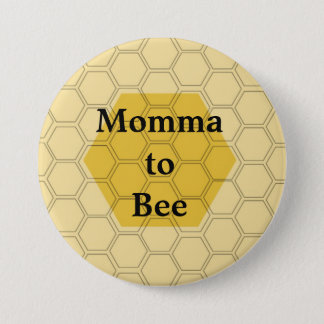 honeycomb 7.5 cm round badge