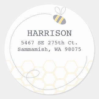 Honeycomb Address Label