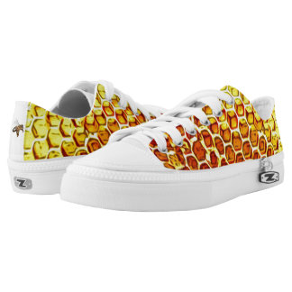 Honeycomb and Bees Low Top Shoes Printed Shoes