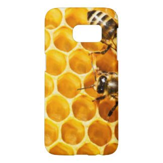 Honeycomb and Bees Pattern Design