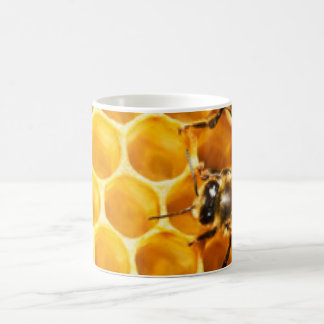 Honeycomb and Bees Pattern Design Coffee Mug
