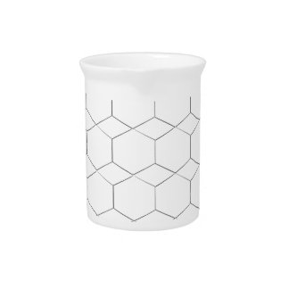 Honeycomb and diamond shape, Black and White Drink Pitchers