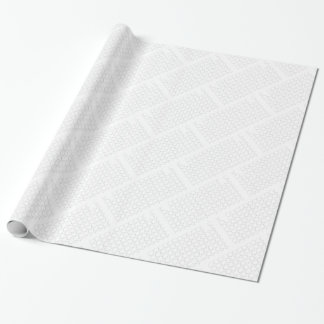 Honeycomb and diamond shape, Black and White Wrapping Paper