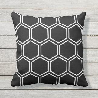 Honeycomb - Black Cushion