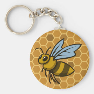 Honeycomb Bumble Bee Key Ring