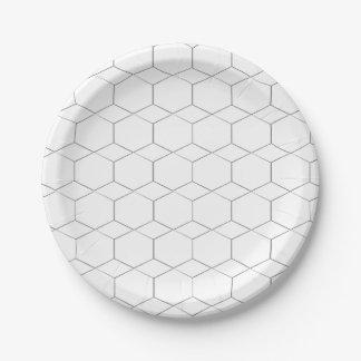 Honeycomb - Diamond shape pattern, paper plates 7 Inch Paper Plate