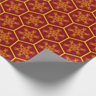Honeycomb drawing pattern wrapping paper