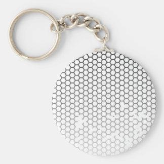 Honeycomb Grunge Basic Round Button Key Ring