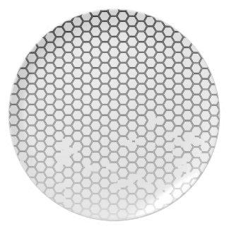 Honeycomb Grunge Dinner Plate