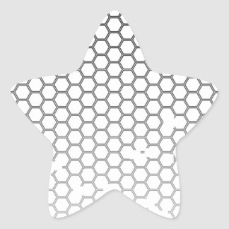 Honeycomb Grunge Star Sticker