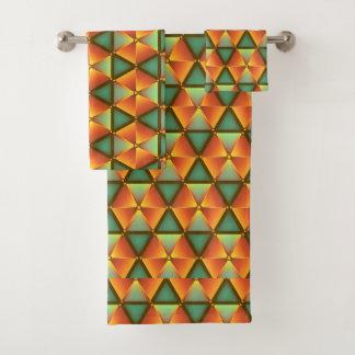 Honeycomb sample bath towel set